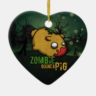 Cute Zombie Guinea Pig Christmas Ornament