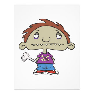 cute zombie kid cartoon character custom flyer