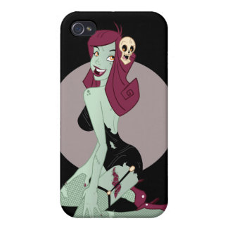 Cute Zombie Pin-Up Girl iPhone 4 Cover