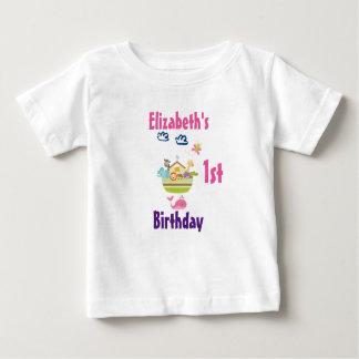 Cute Zoo Animal Ark First Birthday Baby T-Shirt