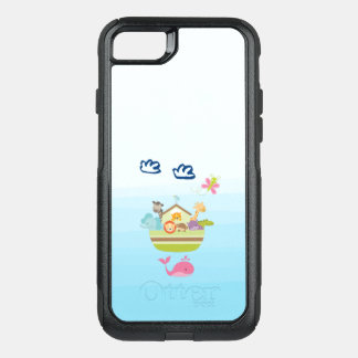 Cute Zoo Animal Ark with a Butterfly and Whale OtterBox Commuter iPhone 7 Case