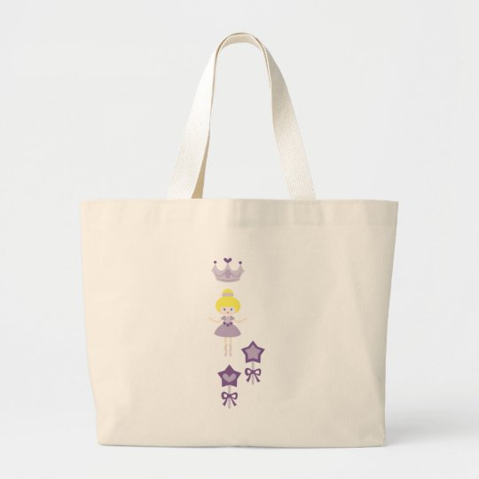 cuteballerina6 large tote bag