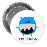 cutebluemonster, FREE HUGS 7.5 Cm Round Badge