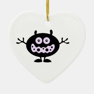 CuteCreature Ceramic Heart Decoration