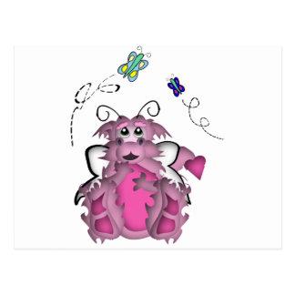 CuteLittle  Butterfly Baby Dragon Girl Postcard