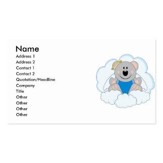 Cutelyn Baby Boy Angel Koala Bear On Clouds Pack Of Standard Business Cards