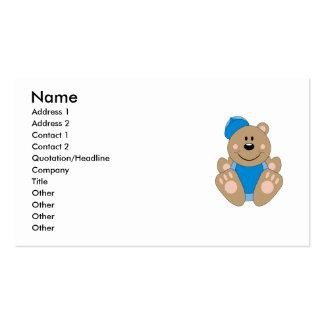 Cutelyn Baby Boy Baseball Bear Business Card