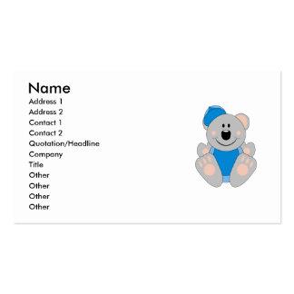 Cutelyn Baby Boy Baseball Koala Bear Business Card Templates