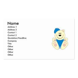 Cutelyn Baby Boy Baseball Polar Bear Business Card Template