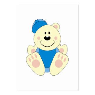 Cutelyn Baby Boy Baseball Polar Bear Business Cards