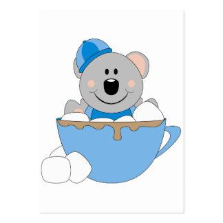 Cutelyn Baby Boy Snow Bear Koala Mug Pack Of Chubby Business Cards