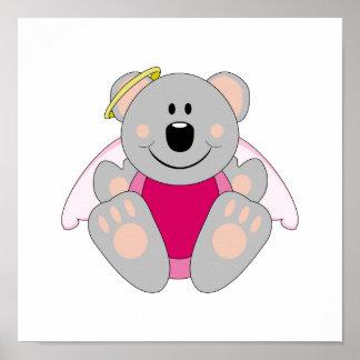 Cutelyn Baby Girl Angel Koala Bear Posters