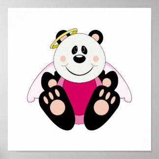 Cutelyn Baby Girl Angel Panda Bear Poster