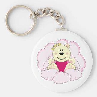 Cutelyn Baby Girl Angel Polar Bear On Clouds Keychains