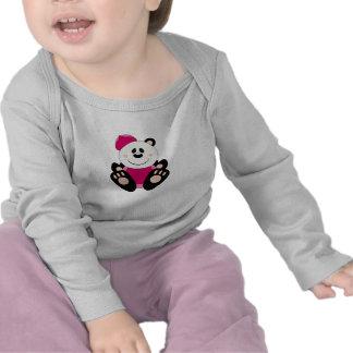 Cutelyn Baby Girl Baseball Panda Bear Tees