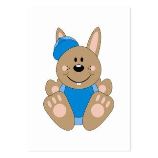 Cutelyn Brown Baby Boy Baseball Bunny Business Cards