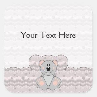 Cutelyn Koala Bear Square Sticker