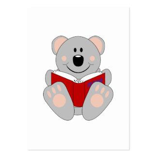 Cutelyn Reading Koala Bear Large Business Cards (Pack Of 100)