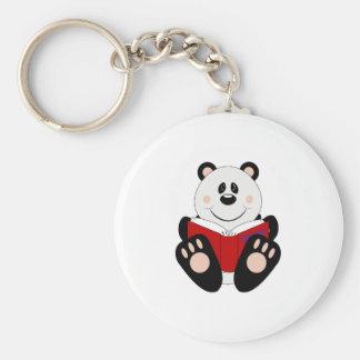 Cutelyn Reading Panda Bear Keychain