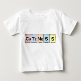 CuTeNeSS periodic elements infant tee