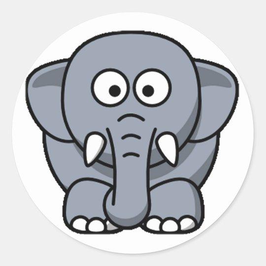 Cuter Elephant Round Sticker