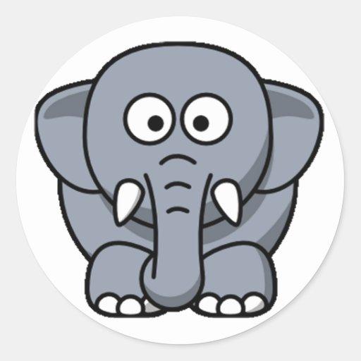 Cuter Elephant Stickers