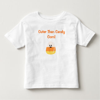 """""""Cuter Than Candy Corn""""  Halloween T for Toddlers Shirts"""