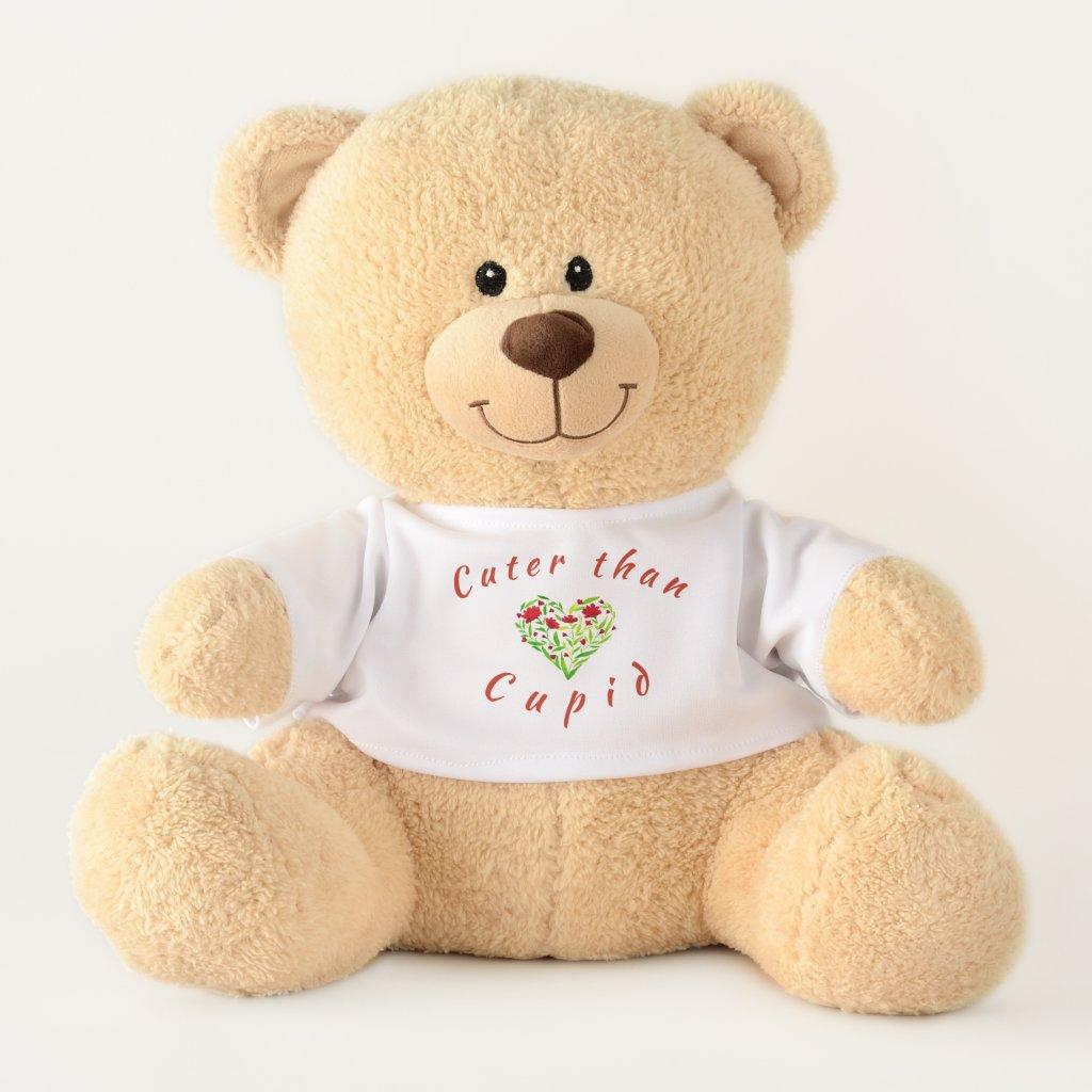 Cuter than Cupid! Floral Heart Teddy Bear