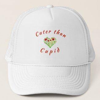 Cuter Than Cupid Floral Heart Trucker Hat