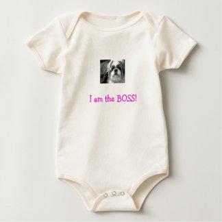 cutesieb&w, I am the BOSS! Baby Bodysuit