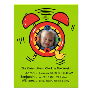 Cutest Alarm Clock Photo Baby Announcement