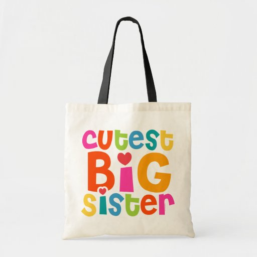 Cutest Big Sister Budget Tote Bag