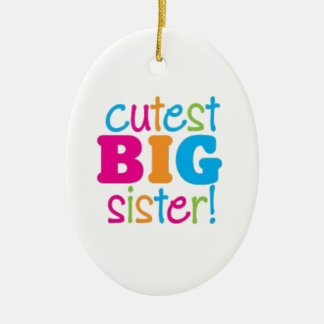 CUTEST BIG SISTER CERAMIC OVAL DECORATION