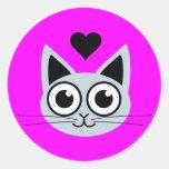 Cutest Blue Cat Sticker