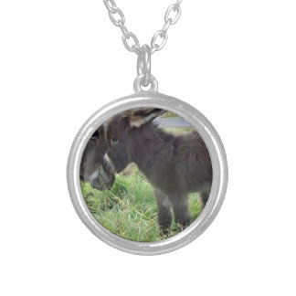 cutest burro silver plated necklace