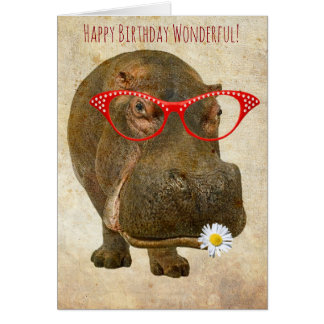 Cutest Hippo Greeting Card! Card