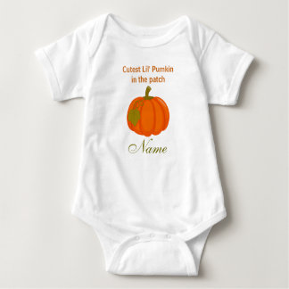 Cutest Lil' Pumkin Custom Baby Jersey Bodysuit