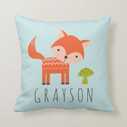 Cutest Little Fox Personalised Throw Pillow