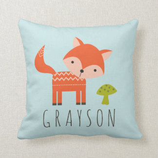 Cutest Little Fox Personalized Throw Pillow Cushions