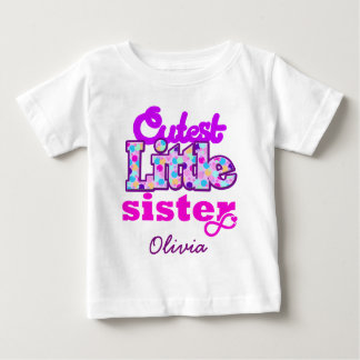 Cutest Little Sister Bubbly Personalized - Tee Shirt