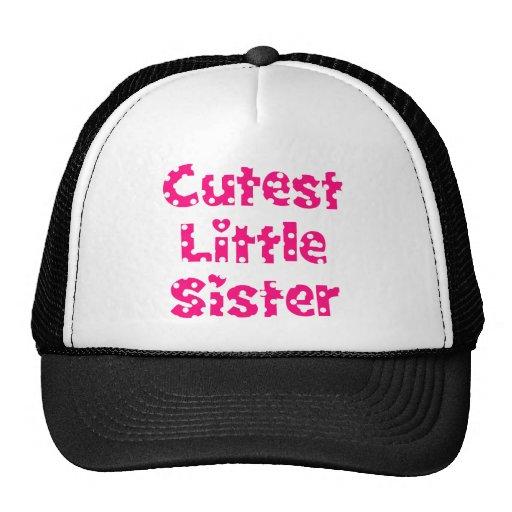 cutest little sister pink polka dot hats