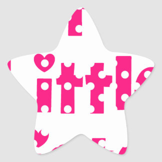 cutest little sister pink polka dot stickers