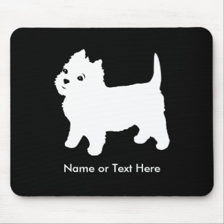 Cutest Little Westie Dog - Westhighland Terrier Mouse Mat