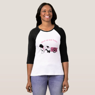 Cutest Pink Shut Up and Train Draught   Dog Shirt
