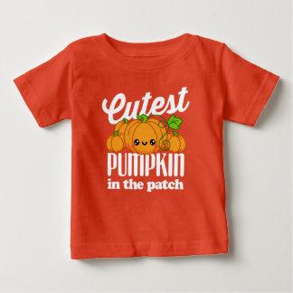 Cutest Pumpkin In The Patch Fall Halloween Autumn Baby T-Shirt