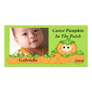 Cutest Pumpkin Kids Halloween Photo Card