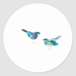 Cutest Twitter Blue Bird Classic Round Sticker