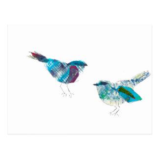 Cutest Twitter Blue Bird Postcard