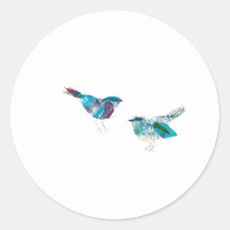 Cutest Twitter Blue Bird Round Sticker