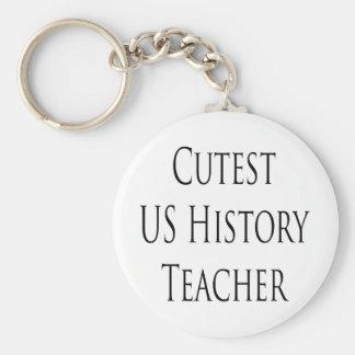 cutest us history teacher keychain